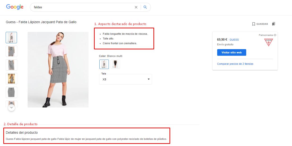 Ejemplo de la marca Guess obtenido tras una laaaaarga búsqueda. Bien por el gestor que lleva esta marca. :)